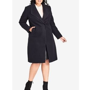 City Chic Navy Coat
